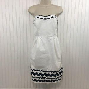 Vineyard Vines white strapless dress